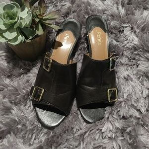 Chocolate JRenee Maribeth leather mules